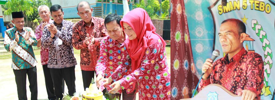 Kepala dinas Pendidikan Propinsi Jambi Bapak H. Agus Herianto, SH Membuka Smalma EXPO Tahun 2017